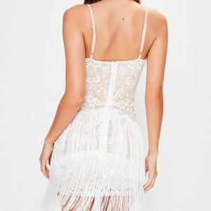 76f11a17fda4 Missguided Dresses - Missguided white fringe bodycon dress new w/tags
